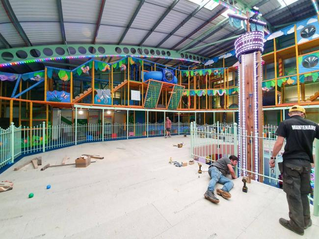 New - an area for parents is being created at Adventure Inside so they can watch their children play