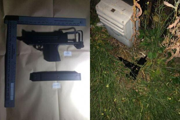 Two arrested after police dog finds 'gun' in undergrowth