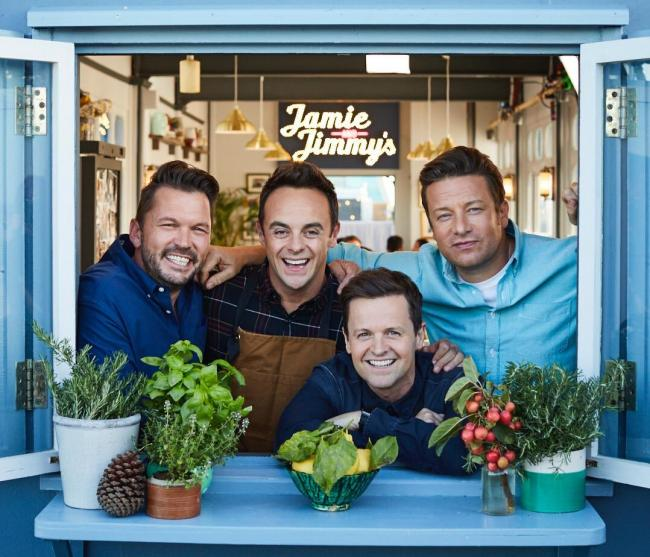 Ant and Dec join Jamie Oliver in Southend for filming