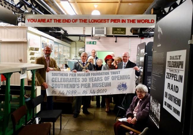 Celebrations - Southend Pier Museum's anniversary party with councillors and residents