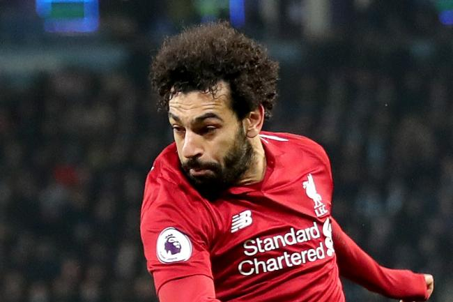 Liverpool's Mohamed Salah in action as his team prepare to face Manchester City