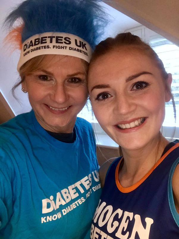 Team - Imogen Culliford-Morcom and mum Vanessa Culliford,