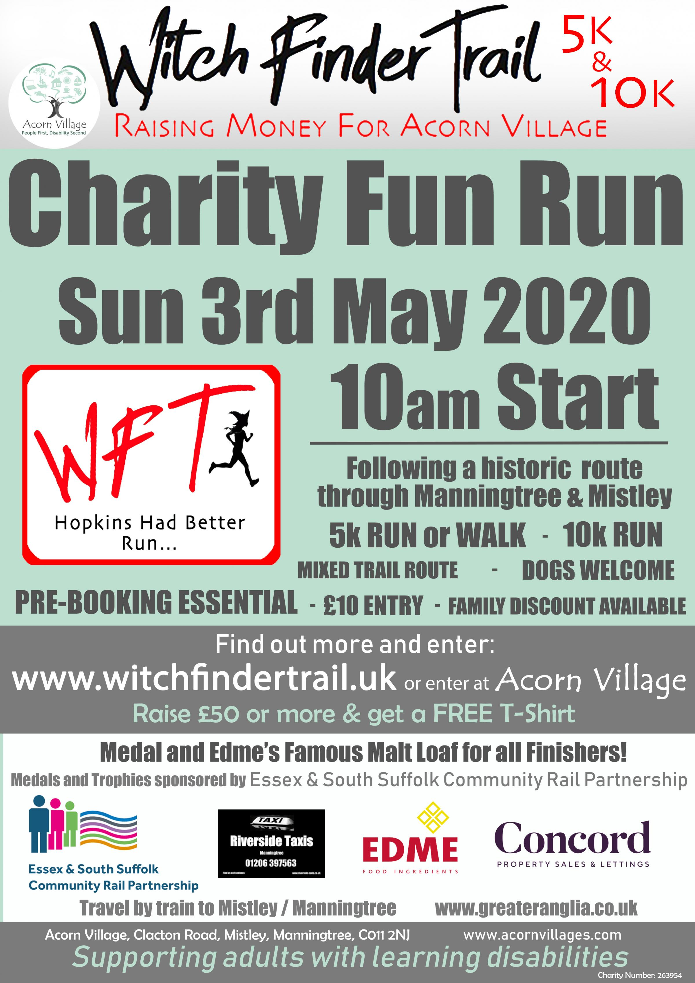 WitchFinder Trail 5k/10k Charity Run/ Walk