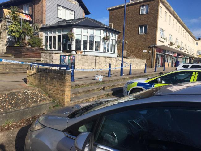 Police cordon near pub after reports of serious incident