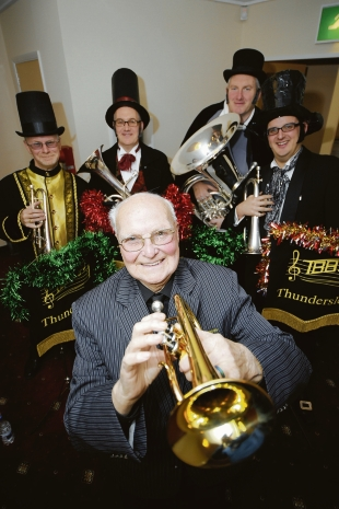 End of an era – George Adey, 92, plays with Thundersley Brass Band for the last time
