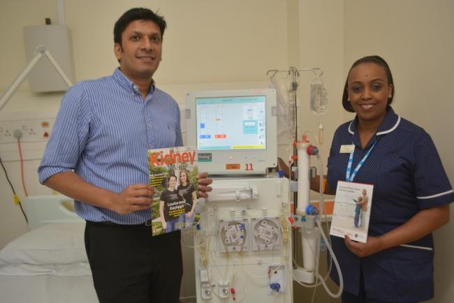 Dedicated - Acute kidney injury specialist Linda Lio with Nephrology consultant Dr Gowrie Balasubramaniam