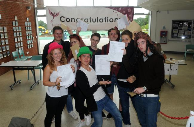 Cheers - Belfairs Academy GCSE results day in 2015