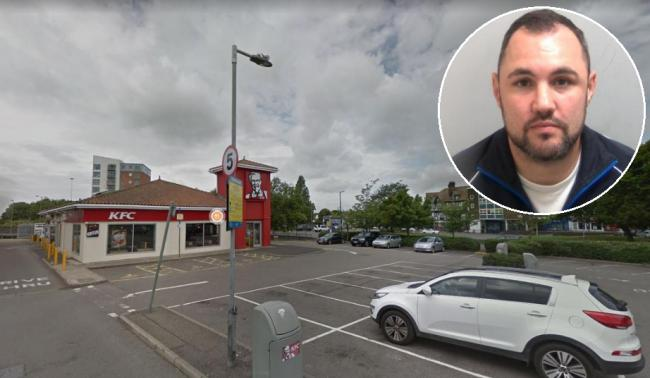 Jailed - Danny Hicks was stopped in the KFC car park in Pitsea