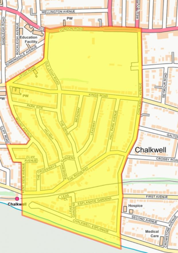 Southend Standard: Coverage - the dispersal order covers the park and the streets surrounding it