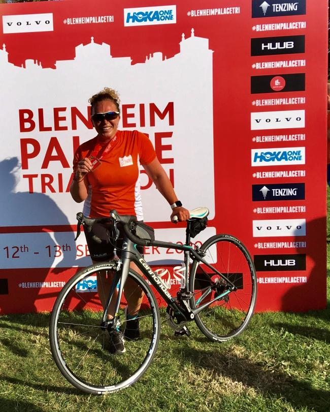Fundraiser - Tania Fisher ran 150 miles for Havens after competing in the Blenheim Triathlon
