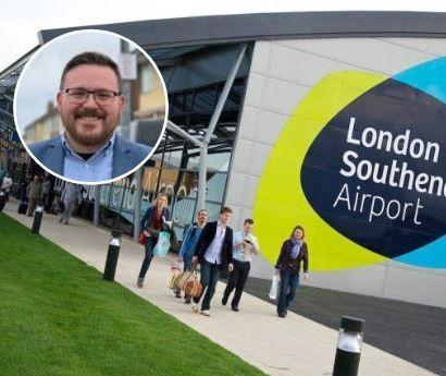 Pledge - Southend Airport and Daniel Cowan (inset)