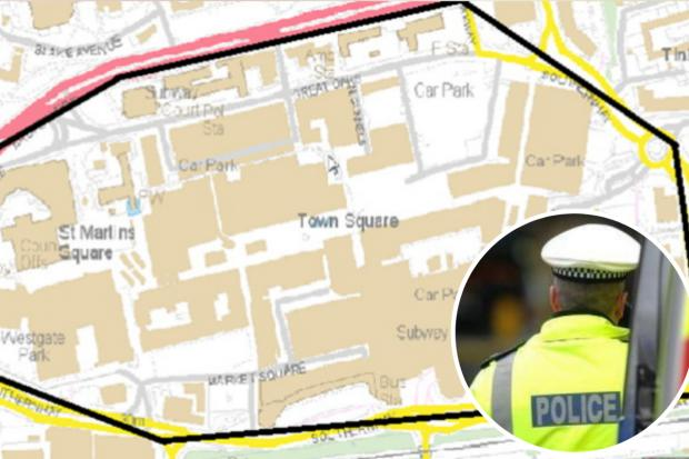 Southend Standard: The dispersal zone in place