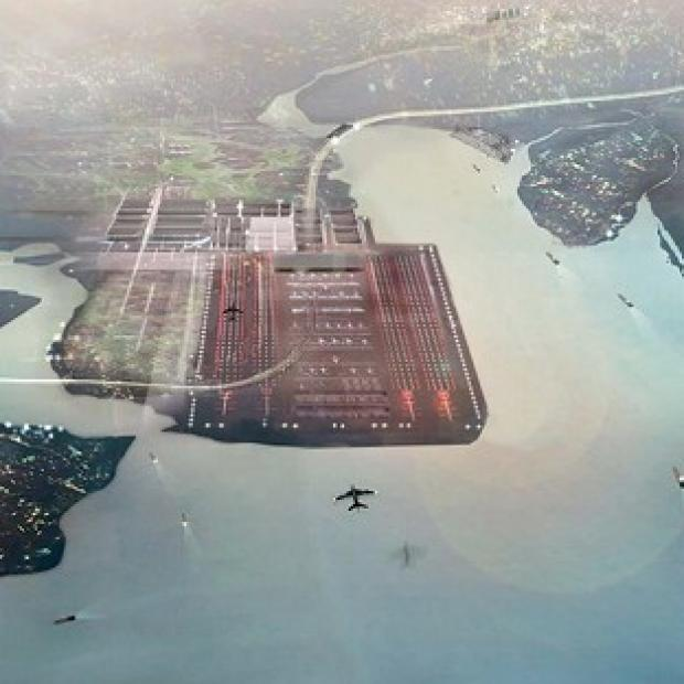 A vision of a new airport in the Thames