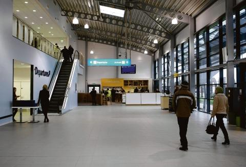 Investment – inside the new terminal building