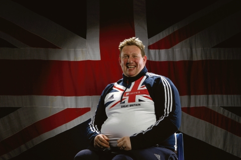 Robin Womack - broke the British discus record at the weekend