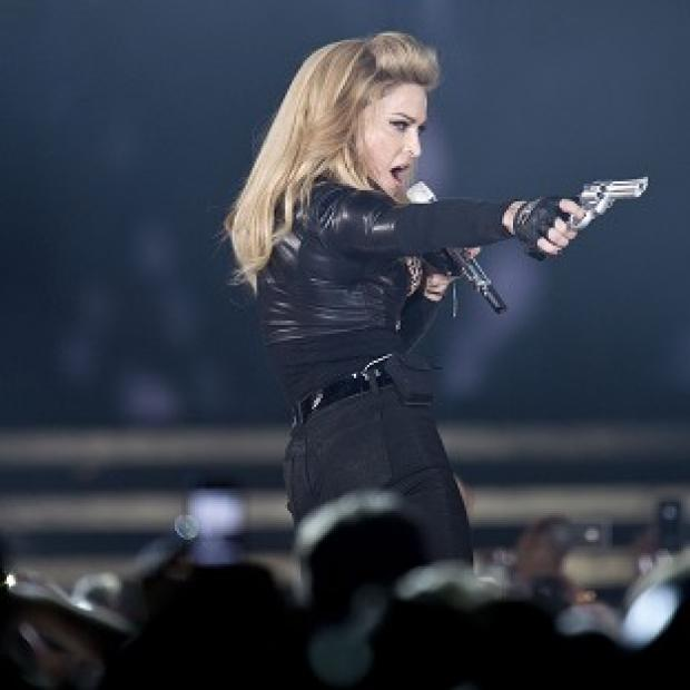 France's National Front has taken issue with a stunt by Madonna on her current tour (AP)