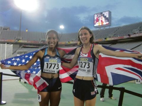 Ajee Wilson (left) and Jessica Judd