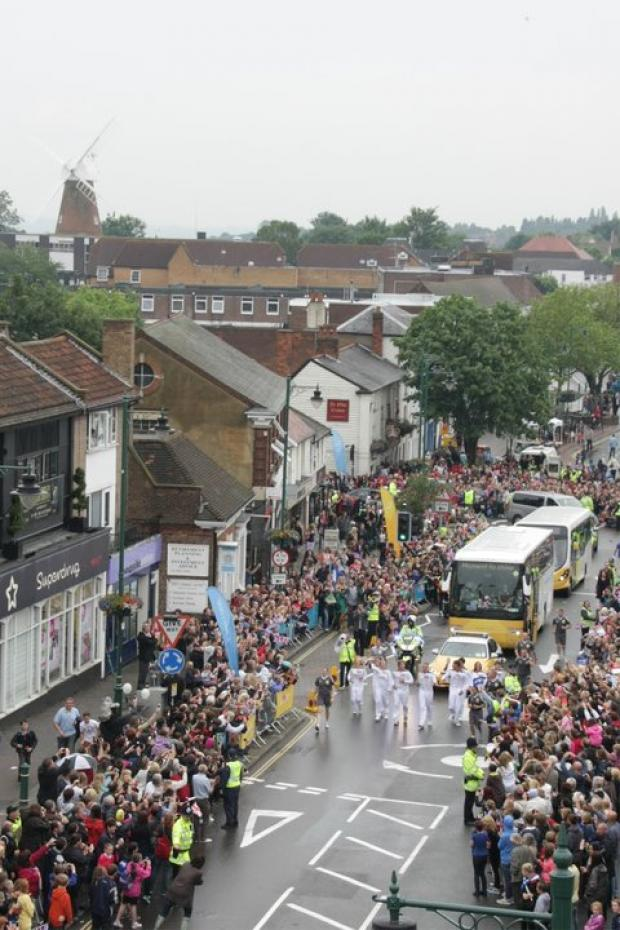 Olympic torch relay through Rayleigh courtesy of Danielle Ward