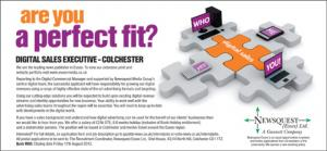 Digital Sales Executive - Colchester (Post No. VN83)