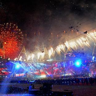Fireworks mark the end of the closing ceremony of the London 2012 Olympic Games