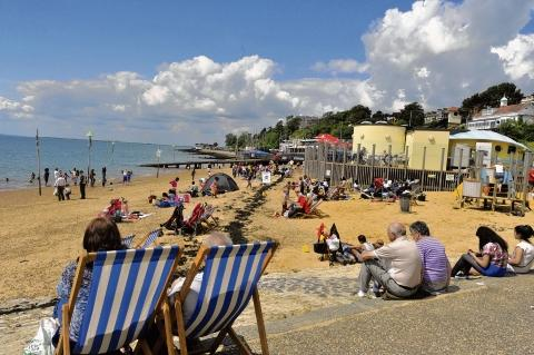 Three Shells Beach – no longer the venue for Milton Community Partnership's day out