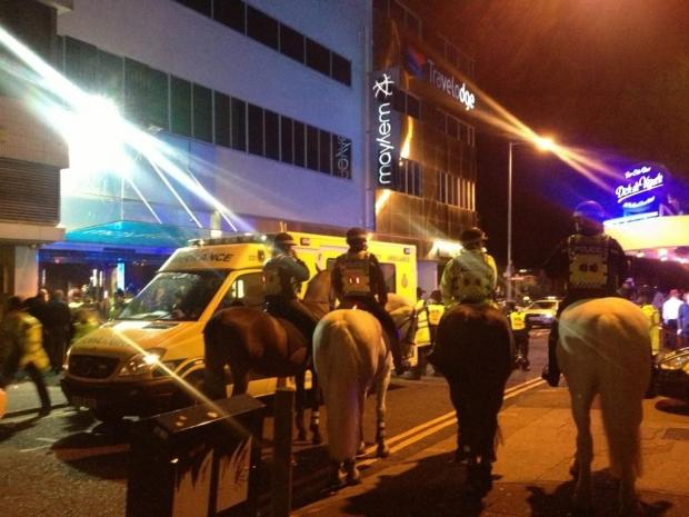 A hundred police raid Southend nightclub
