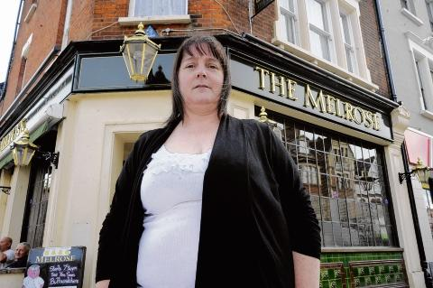 Landlady Susan Griffiths was away when burglars broke into her bedroom