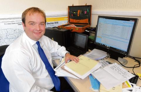 MP James Duddridge lost out in the Government reshuffle