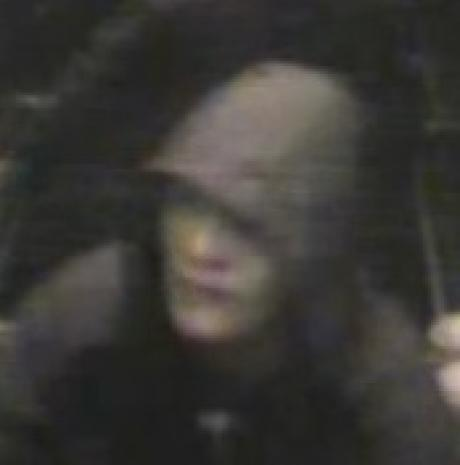 CCTV of suspected robber