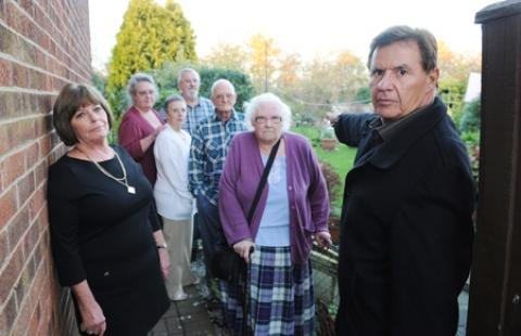 Ian Mott, 68, and his neighbours in Bourne Avenue are angry that plans for 450 new homes have been approved at Ford Dunton.