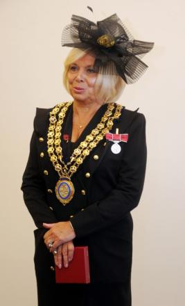 Mayor Mo Larkin asked for an apology from councillor Phil Rackley after he posted offensive comments about her on Facebook