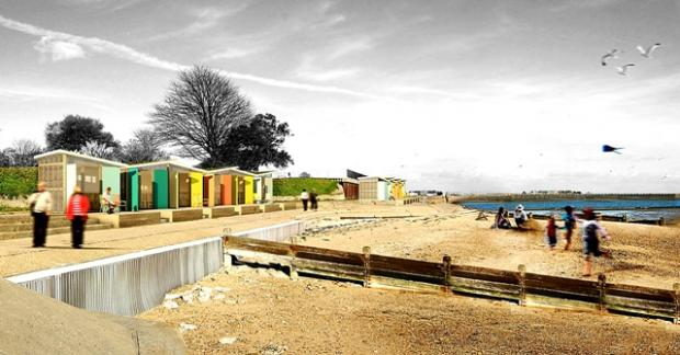 The proposed beach huts