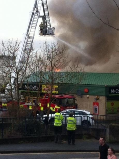 Firefighters tackle blaze at Triangle in Langdon Hills