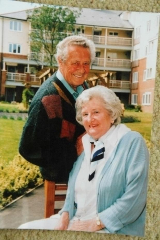 Southend Standard: Greta and Trevor Bailey pictured together. They were married for 62 years before Trevor's tragic death in February 2011