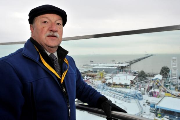 Graham Longley overlooking the pier