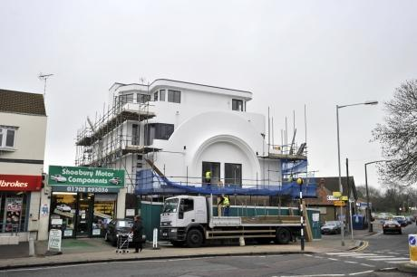 Southend Standard: The new flats in Ness Road