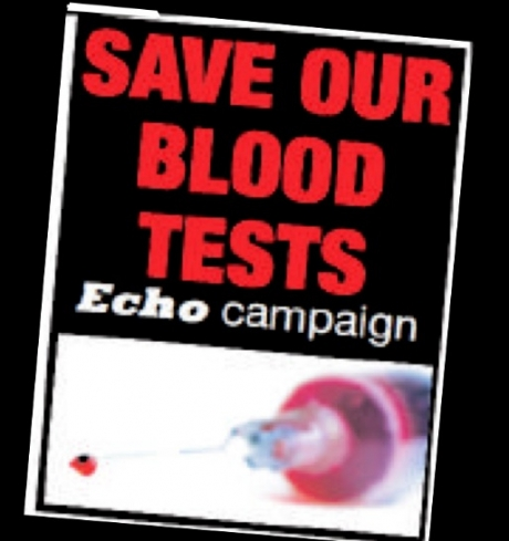 50 in protest over blood test plan