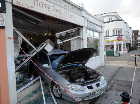 Crash in Leigh Road on Tuesday