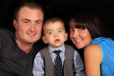 Southend Standard: Faye and Carl Axford, pictured with son Callum, are set to meet Prime Minister's wife Samantha Cameron.
