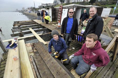 Volunteers at the Thames Estuary Yacht club
