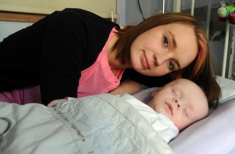 Samantha Harding and her son Toby-Jay