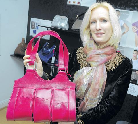 Southend Standard: Smart – Carmen Woods with one of her handbags