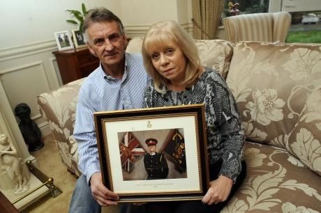 Barry and Helen Lewis, whose son Aaron Lewis was killed in Afghanistan in 2008