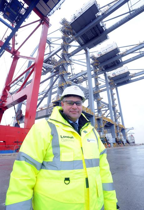 Andrew Bowden at London Gateway