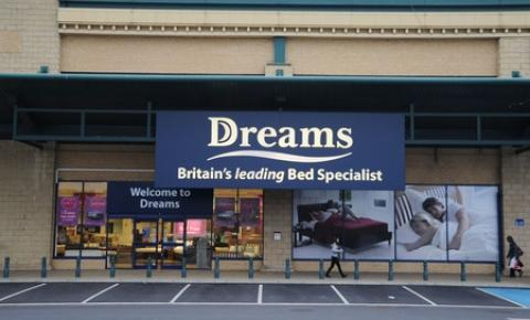 Dreams Beds and Thomas Cook announced store closures.