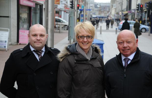Dennis Baldry, Dawn Jeakings, and Mark Bartrip from Southend BID