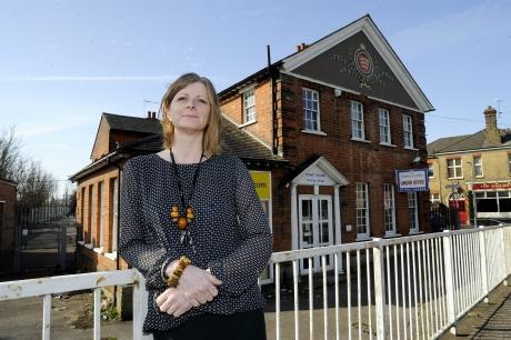 YMCA chief executive Syrie Cox outside the building set to be Southend's first free school
