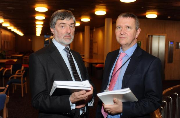 Rob Tinlin and Nigel Holdcroft, chief executive and leader of Southend Council
