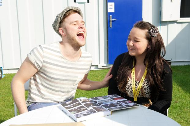 Southend Standard: Starstruck Amber-Leigh Mullins with Olly Murs with
