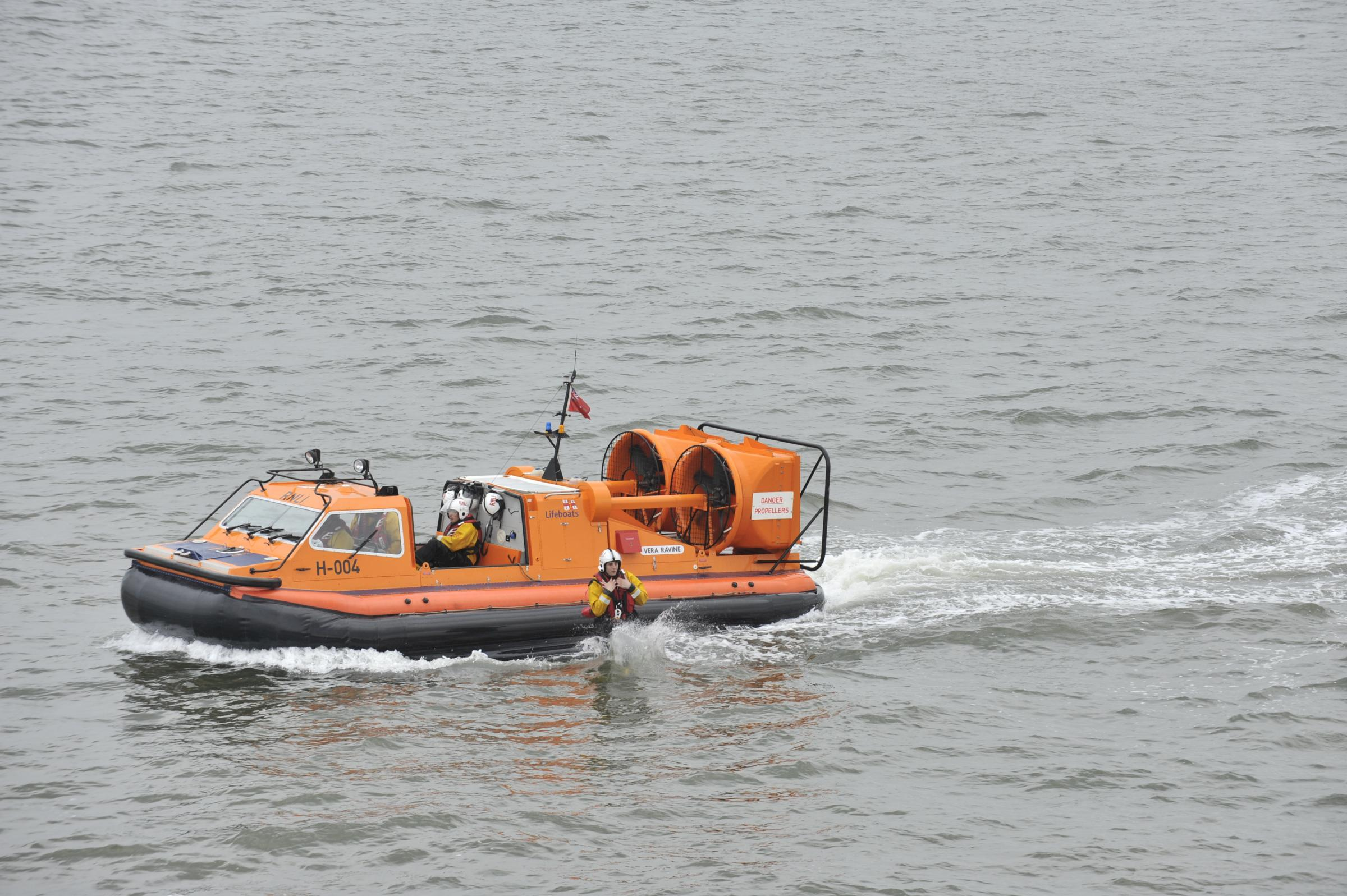 Lifeboat launched to search for woman